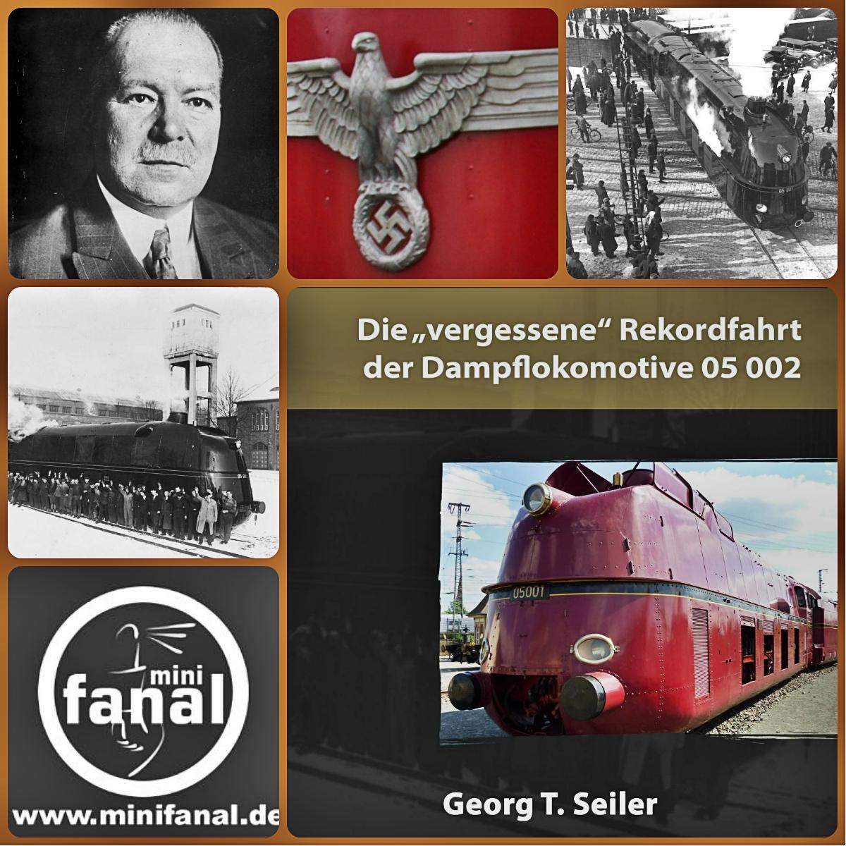 Rekordfahrt der Dampflokomotive 05 002